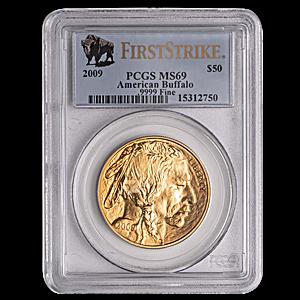 American Gold Buffalo 2009 - Graded MS 69 by PCGS - 1 oz