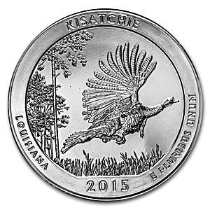 American Silver America the Beautiful 2015 - Kisatchie National Forest - 5 oz
