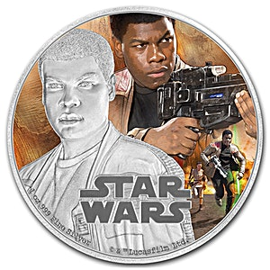 Niue Silver Star Wars 2016 - Finn - 1 oz