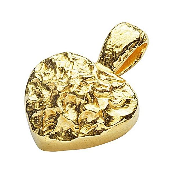 Degussa Gold Heart Shaped Pendant - 6.6 g