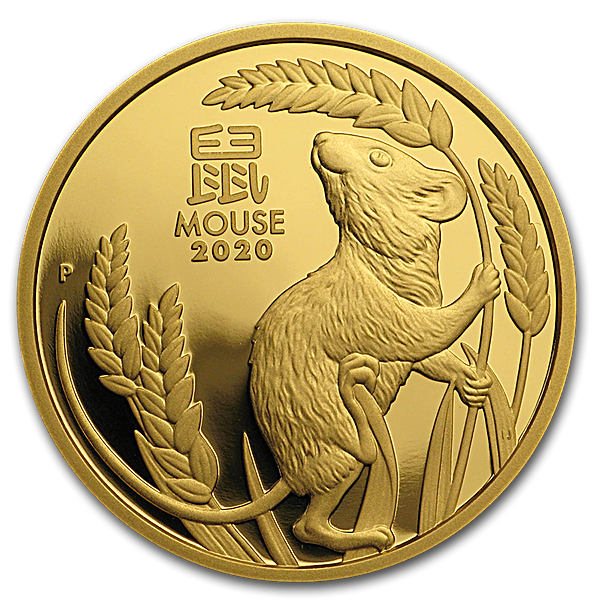 Australian Gold Lunar Series 2020 - Year of the Mouse - Proof - 1 oz