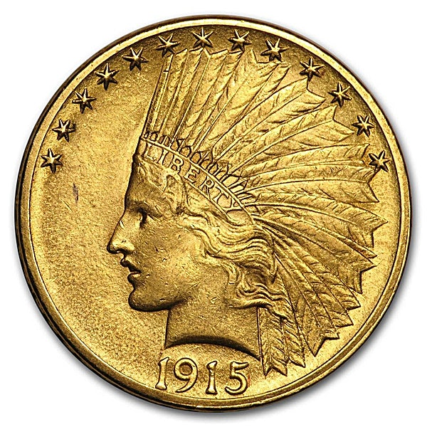 Indian Gold Eagle (USA) 1915 - Indian Head - 15.045 g