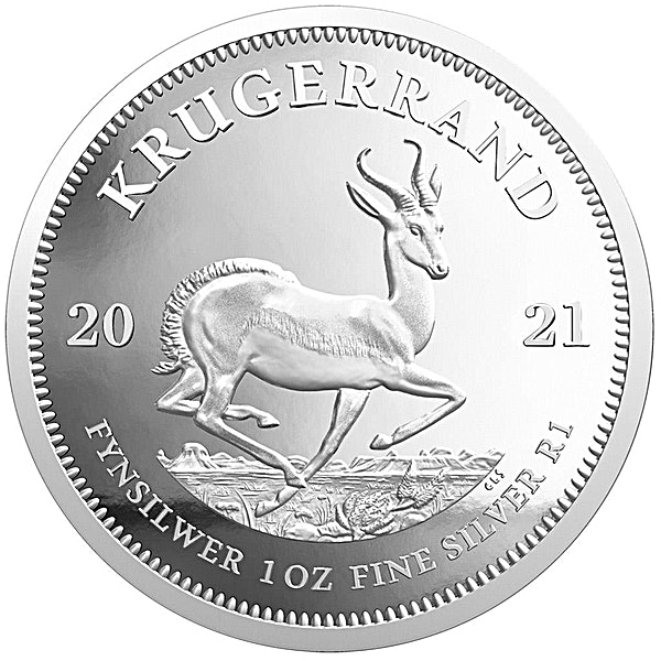 South African Silver Krugerrand 2021 - Proof - 1 oz