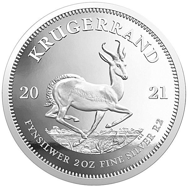 South African Silver Krugerrand 2021 - Proof - 2 oz