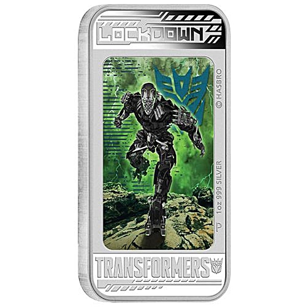 Tuvalu Silver Transformers: Age of Extinction – Lockdown 2014 - Circulated in good condition - 1 oz