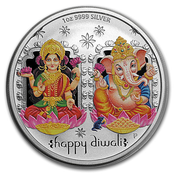 Happy Diwali Silver Coin - 1 oz 2019 - Proof - With Box and COA