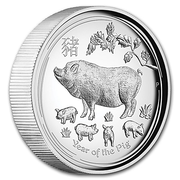 Australian Silver Lunar Series 2019 - Year of the Pig - Proof High Relief - With Box and COA - 1 oz