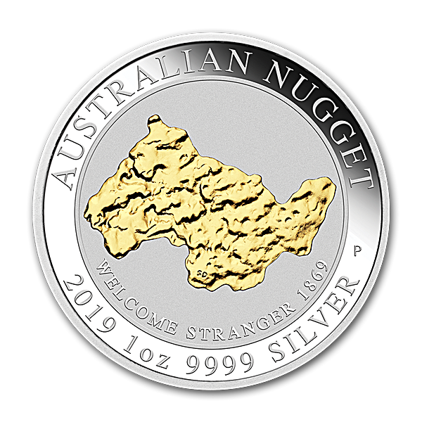 Australia Silver Welcome Stranger Nugget 2019 - 1 oz
