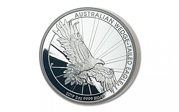 Australian Silver Wedge Tailed Eagle 2019 - Piedfort Proof - 2 oz