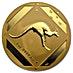Australian Gold Kangaroo Road Sign 1993 - Frosted - 1 oz thumbnail