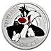 Tuvalu Silver Looney Tunes Sylvester 2018 - 1/2 oz thumbnail