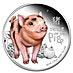 Tuvalu Silver Baby Pig 2019 - 1/2 oz thumbnail