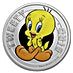 Tuvalu Silver Looney Tunes Tweety Bird 2018 - 1/2 oz thumbnail