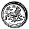 Australian Silver Lunar Series 2018 - Year of the Dog - Proof High Relief - With Box and COA - 1 oz