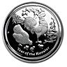 Australia Silver Lunar Series 2017 - Year of the Rooster - Proof - 1 oz