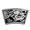Chinese Silver Lunar Series 2012 - Year of the Dragon - Fan Shaped - 30 g