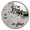 Niue Silver Great Migrations 2016 - Monarch Butterflies - 1 oz