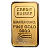 Credit Suisse Gold Bar - Circulated in good condition - 1/4 oz