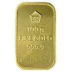 Logam Mulia Gold Bar - Circulated in good condition - 100 g thumbnail