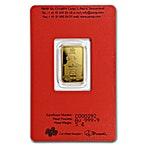 PAMP Lunar Series 2018 Gold Bar - Year of the Dog - 5 g thumbnail