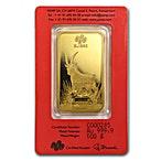 PAMP Lunar Series 2015 Gold Bar - Year of the Goat - 100 g thumbnail