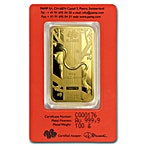 PAMP Lunar Series 2016 Gold Bar - Year of the Monkey - 100 g thumbnail
