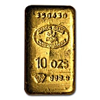 Swiss Bank Corporation Gold Bar - 10 oz thumbnail