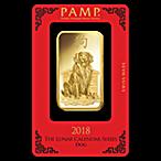 PAMP Lunar Series 2018 Gold Bar - Year of the Dog - 100 g thumbnail