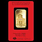 PAMP Lunar Series 2018 Gold Bar - Year of the Dog - 1 oz thumbnail