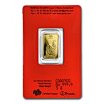 PAMP Lunar Series 2017 Gold Bar - Year of the Rooster - 5 g thumbnail