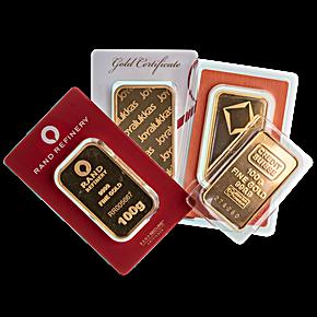 Gold Bar - Various Brands - LBMA - 100 g