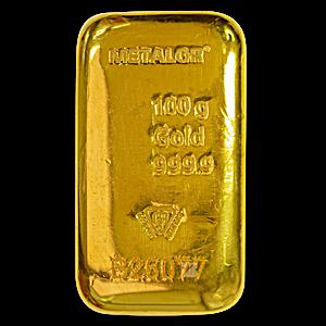 Metalor Gold Cast Bar - 100 g