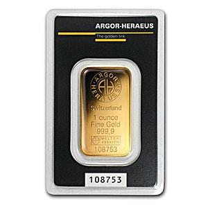 Argor-Heraeus Gold KineBar - 1 oz