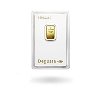 Degussa Gold Bar - Circulated in good condition - 2.5 g