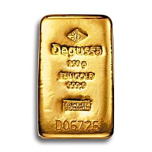 Degussa Gold Cast Bar - 250 g