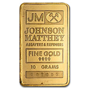 Johnson Matthey Gold Bar - Circulated in good condition - 10 g