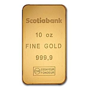 Scotiabank Gold Bar 10 Oz