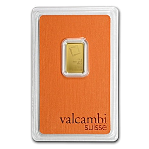 Valcambi Gold Bar - Circulated in good condition - 2.5 g