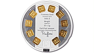 Heraeus Gold Bar - MultiDisc - 10x1 g