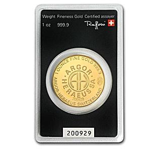 Argor-Heraeus Kineround Gold Round - 1 oz