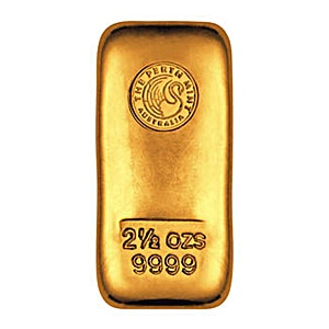 Perth Mint Gold Cast Bar - 2.5 oz