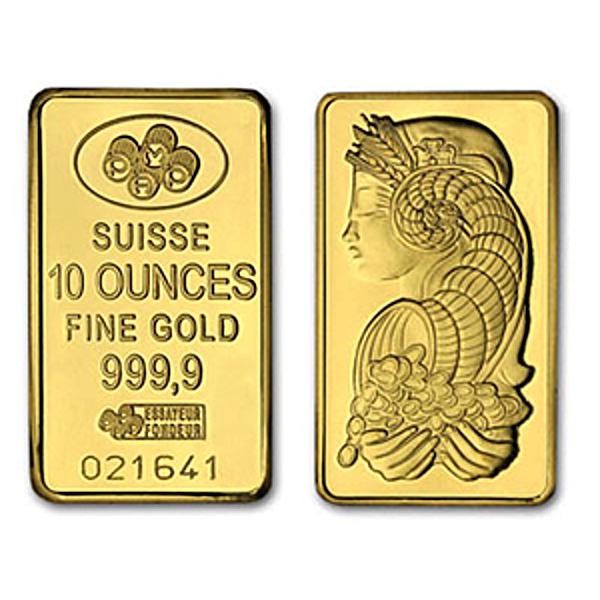 PAMP Gold Bar - 10 oz
