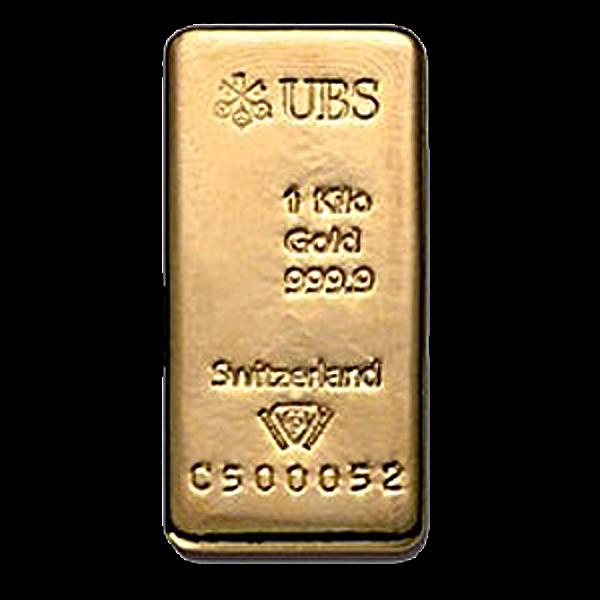 UBS Gold Cast Bar - 1 kg