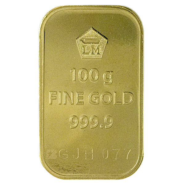 Logam Mulia Gold Bar - Circulated in good condition - 100 g