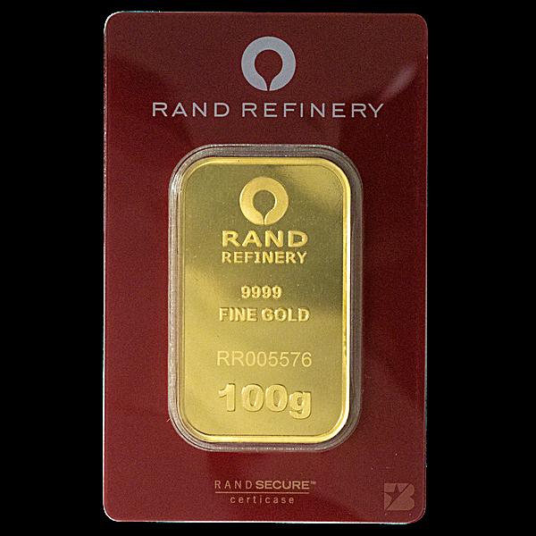 Rand Refinery Gold Bar - 100 g