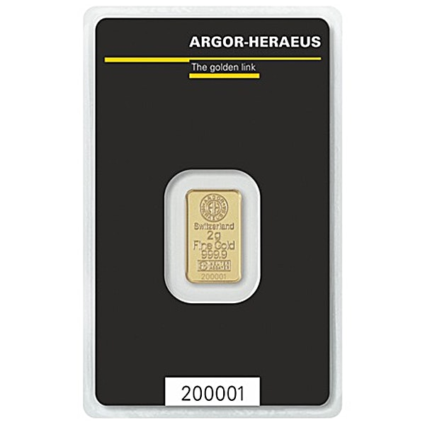 Argor-Heraeus Gold Bar - 2 g