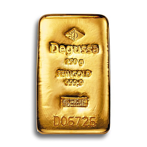 Degussa Gold Cast Bar - 250 g