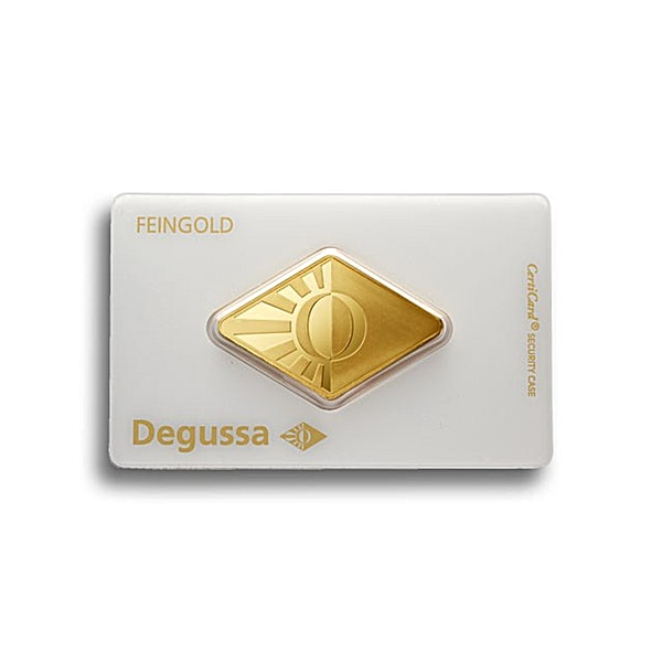 Degussa Gold Bar - Diamond Design - 1 oz