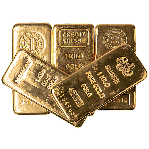 Gold Bar/s - Spot Price - Various Brands - LBMA - 1 kg