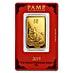 PAMP Lunar Series 2019 Gold Bar - Year of the Pig - 1 oz thumbnail